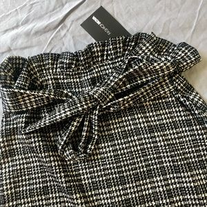 NWT houndstooth paper bag pencil skirt
